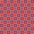 Geometric seamless pattern, abstract background. Checkered design, squares, optical illusion. For the  of wallpaper Royalty Free Stock Photo