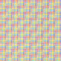 Geometric seamless pattern, abstract background, optical illusion. Checkered design, multicolored squares in pastel colors. For th Royalty Free Stock Photo