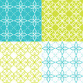 Geometric seamless pattern, Arabic ornament style, tiled design in turquoise and green color