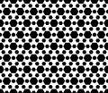 Geometric seamless pattern, black & white hexagons background