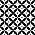 Geometric seamless pattern in black and white - inspired by Spanish and Portuguese tiles design