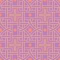 Geometric seamless pattern. Bright colored violet background
