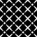 Geometric seamless pattern with circles and diamonds.