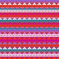Geometric seamless pattern colorful native background Stock Image