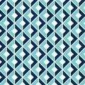 Geometric Seamless Pattern with a 3D Optical Illusion