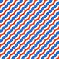 Geometric seamless pattern with diagonal waves
