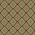 Geometric seamless pattern. The diamonds, squares and stripes in pastel gentle tones. It can be used as wallpaper, paper Royalty Free Stock Photo
