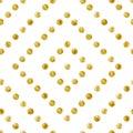 Geometric Seamless pattern of golden sequins