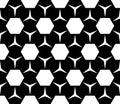 Geometric seamless pattern, hexagons & triangles