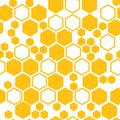 Geometric seamless pattern with honeycomb. Vector illustration