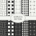 Geometric seamless pattern with intertwined bands