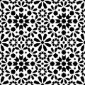 Geometric seamless pattern, Moroccan tiles design, seamless black tile background Royalty Free Stock Photo