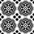 Geometric seamless pattern, Moroccan tiles design, seamless black tile background