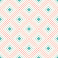 Geometric seamless pattern with repeating rhombus can be used for wallpaper fills web page background surface textures Royalty Free Stock Photography