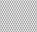 Geometric seamless pattern, rippled hexagons