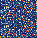 Geometric seamless pattern with triangles. Abstract multicolor background.