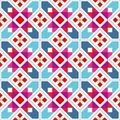Geometric seamless pattern wallpaper with abstract ethnic Royalty Free Stock Photography