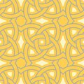 Geometric seamless pattern. Yellow background
