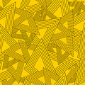Geometric seamless pattern yellow background with texture Royalty Free Stock Images