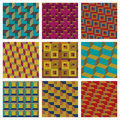 Geometric seamless patterns Stock Photography