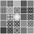 Geometric seamless patterns. Royalty Free Stock Photography