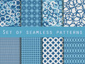 Geometric seamless patterns. Pattern with rings.  Vector illustration. Royalty Free Stock Photo