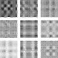 Geometric seamless patterns a set of different Stock Image