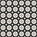 Geometric seamless texture with circles, squares