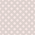 Geometric seamless texture, dots in diagonal grid Royalty Free Stock Photo
