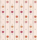 Geometric seamless vintage pattern background with floral elemen elements eps vector Royalty Free Stock Images