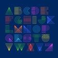 Geometric shapes linear alphabet
