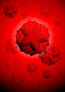 Geometric shapes on a red background Royalty Free Stock Photo