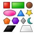 Geometric shapes vector symbol icon design. Royalty Free Stock Photo