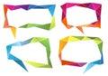 Geometric speech bubbles vector set colorful of graphic design elements Stock Photos