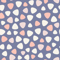 Geometric spots vector seamless pattern. Blue, pink, rose, coral