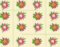 Geometric summer vegetable ornament