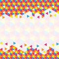Geometric triangular pattern Royalty Free Stock Photo