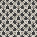 Geometric vector pattern, repeating circle or abstract water drop, fish scale and curtain. Pattern is clean for design, fabric,