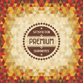 Geometric vintage background vector for design works Stock Image