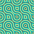 Geometric vintage retro seamless pattern illustration Stock Image