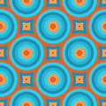 Geometric vintage retro wallpaper seamless pattern illustration Royalty Free Stock Image