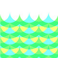 Geometric wave pattern with color overlay Stock Image