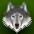Geometric wolfs face graphic wolf head front view qualitative vector eps element for identity design branding tattoo and much more Royalty Free Stock Photography