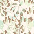 Geometrical botanical print seamless pattern in vector