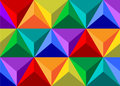 Geometrical figure pattern triangle and seven flowers of a rainbow Stock Photography