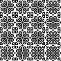 Geometrical flower seamless pattern eps Royalty Free Stock Photos