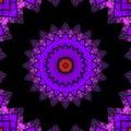 Geometrical ornamental textile pattern