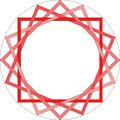 Geometrical repeating draw hypnotic lines
