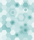Geometrical seamless background from blue hexagons vector illustration Stock Images