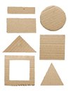 Geometry cardboard Royalty Free Stock Photo